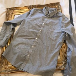 H&M Long Sleeve Grey Button Down